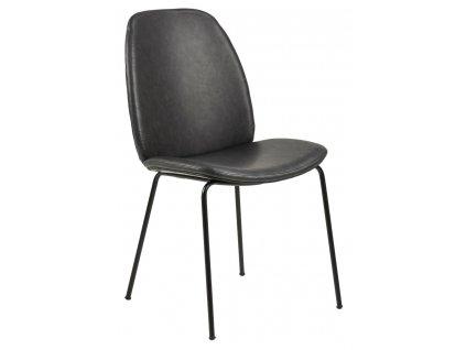 Židle Carmen Retro černá PU