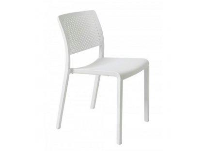 Židle Ležák bílá