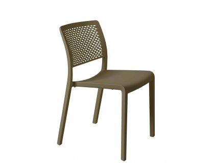 Židle Ležák hnědá
