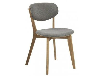 Židle Minsk šedá/ dub