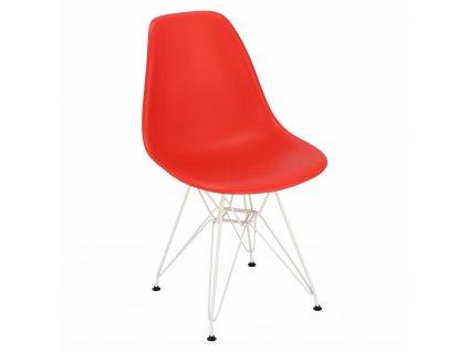 Židle P016 PP bílá červená