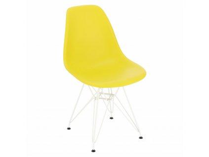 Židle P016 PP bílá tmavě olivová