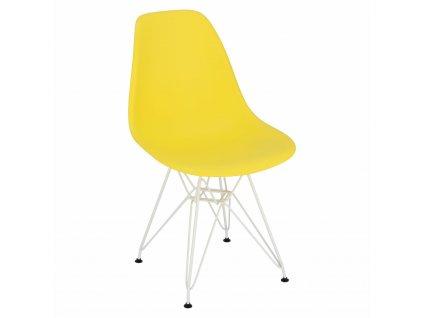 Židle P016 PP bílá žlutá