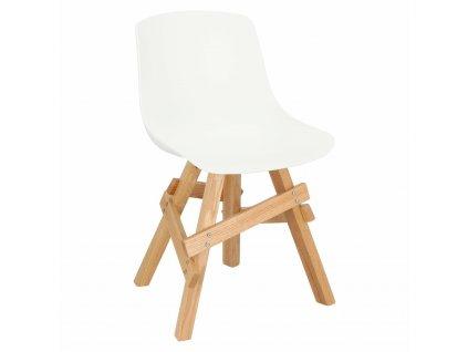 Židle Railway bílá/dubová
