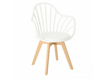 Židle Sirena s područkami bílá
