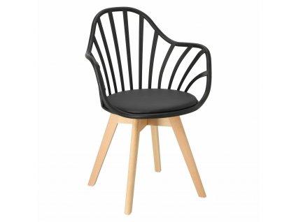 Židle Sirena s područkami černá