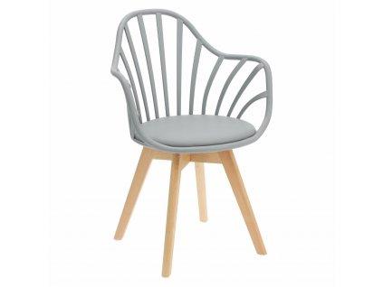 Židle Sirena s područkami šedá