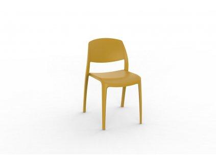 Židle Smart žlutá