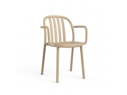 Židle Sue Lama s područkami písková