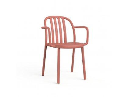 Židle Sue Lama s područkami růžová