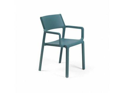 Židle Trill s područkami modrá