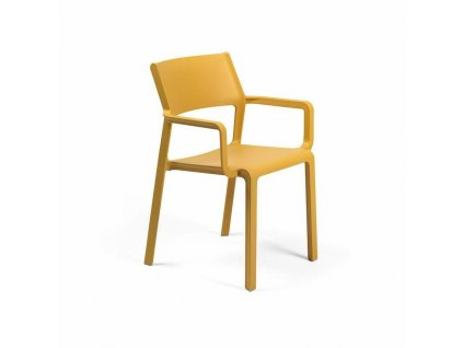 Židle Trill s područkami žlutá