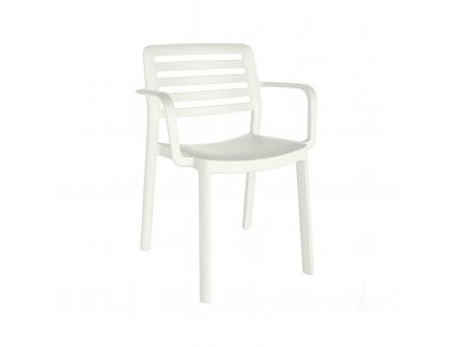 Židle Wind s područkami bílá