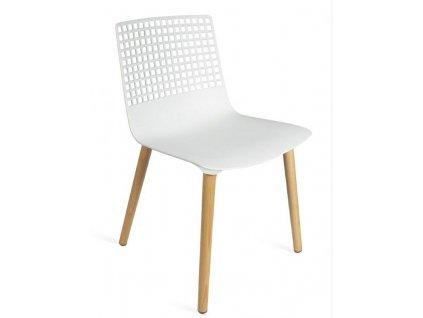 Židle Wire dřevo bílá