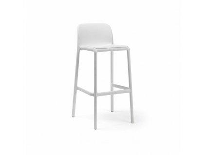 Barová stolička Faro bílý