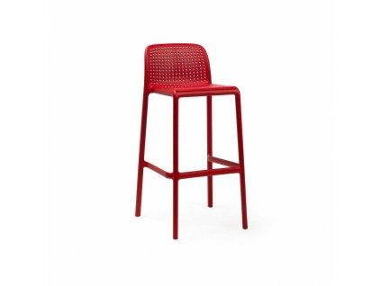 Barová stolička Lido červený