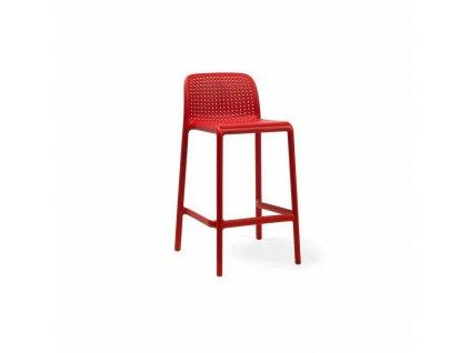 Barová stolička Lido mini červený