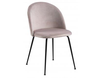 Židle Louise světle růžová