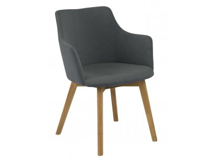 Židle Bella antracitová Oak