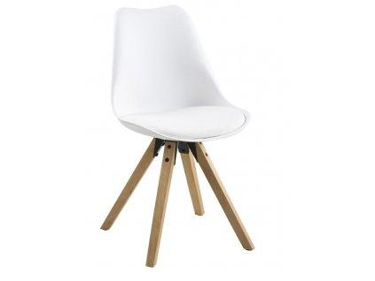 Židle Dima bílá/dub