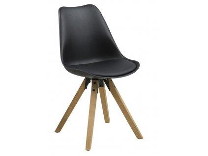 Židle Dima černá/dub
