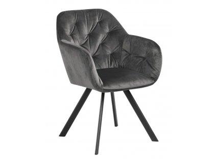 Židle Lola Vic tmavě šedá