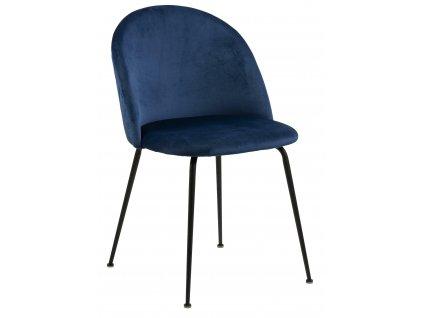 Židle Louise tmavě modrá