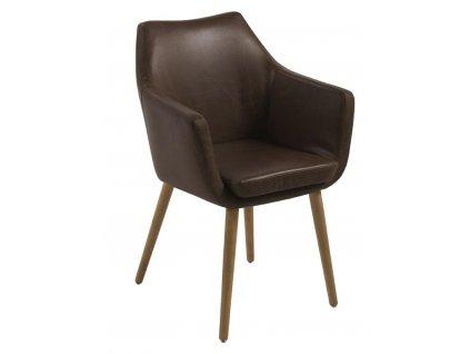 Židle Nora Vintage čokoládová
