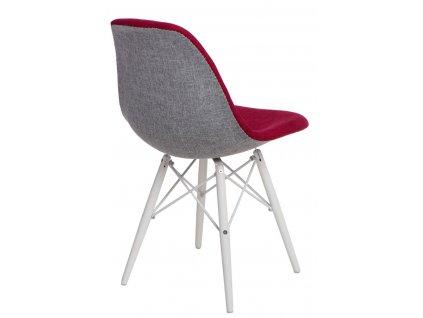 Židle P016V Duo červená šedá/bílá