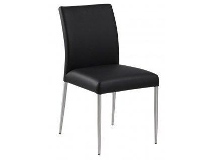 Židle Sala černá kůže