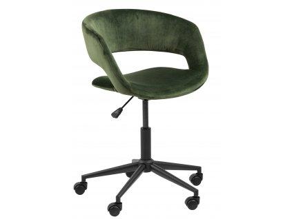Křeslo kancelářské na kolečkách Grace Vic lesní zelená