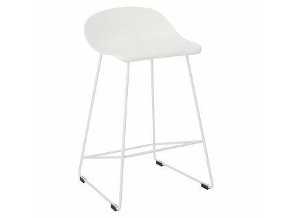 Židle barová Molly bílá Low
