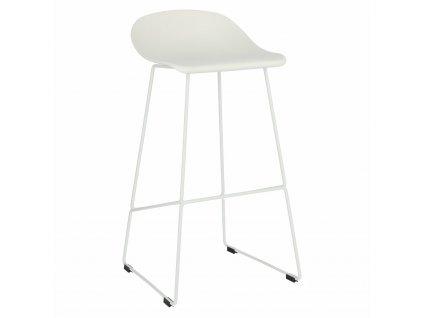 Židle barová Molly bílá vysoká