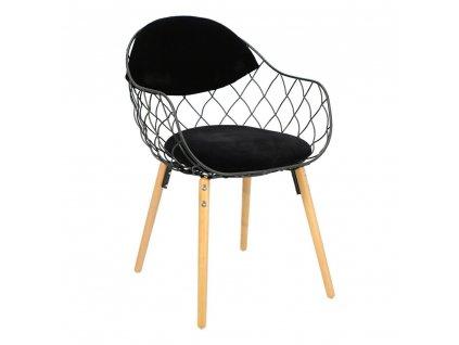 Židle Jahi černá/černá/přírodní