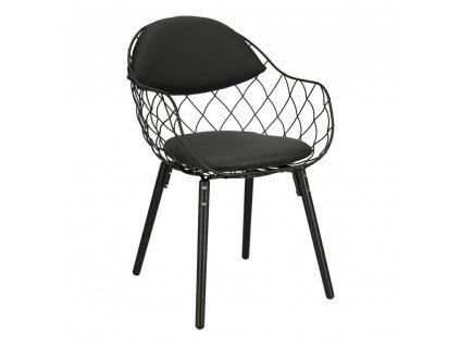 Židle Jahi černé PU/černá/černá