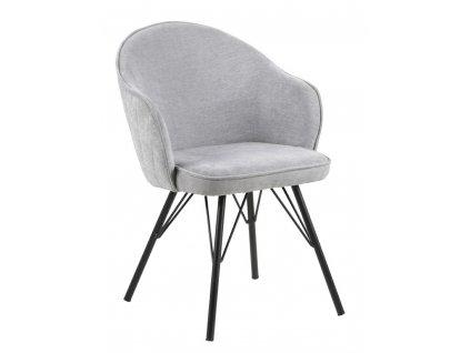 Židle Mitzie Steal šedá