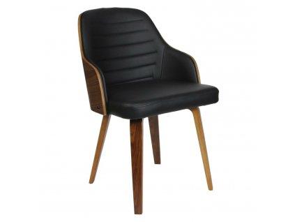 Židle Nash černá eko kůže