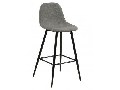 Barová stolička Wilma světle šedý/černý