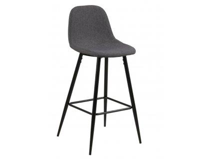 Barová stolička Wilma tmavě šedý/černý
