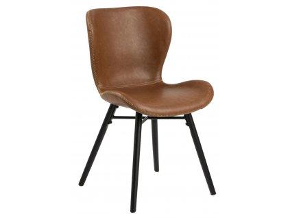 Židle Batilda Retro brandy/černá
