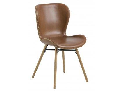 Židle Batilda Retro brandy/přírodní