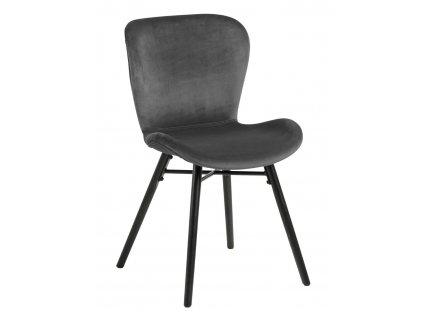 Židle Batilda Vic tmavě šedá