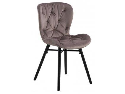 Židle Batilda Vic zaprášená růžová/prošívaná