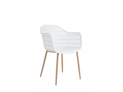 Židle Becker bílá/přírodní