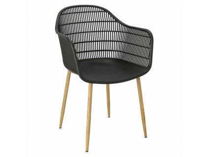 Židle Becker černá/přírodní
