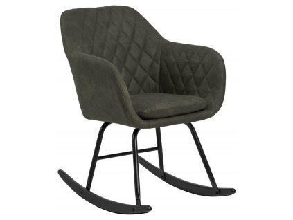 Židle houpací Emilia Olive prošívaná