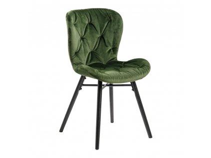 Židle Batilda Vic lesní zelená/prošívaná