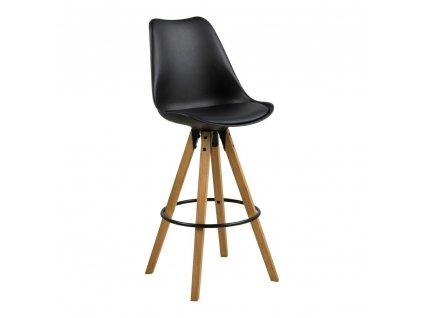 Barová stolička Dima černý dřevo