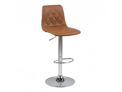 Barová stolička Emu eko kůže hnědý
