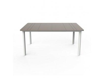 Stůl Noa pískový/bílý 160x90